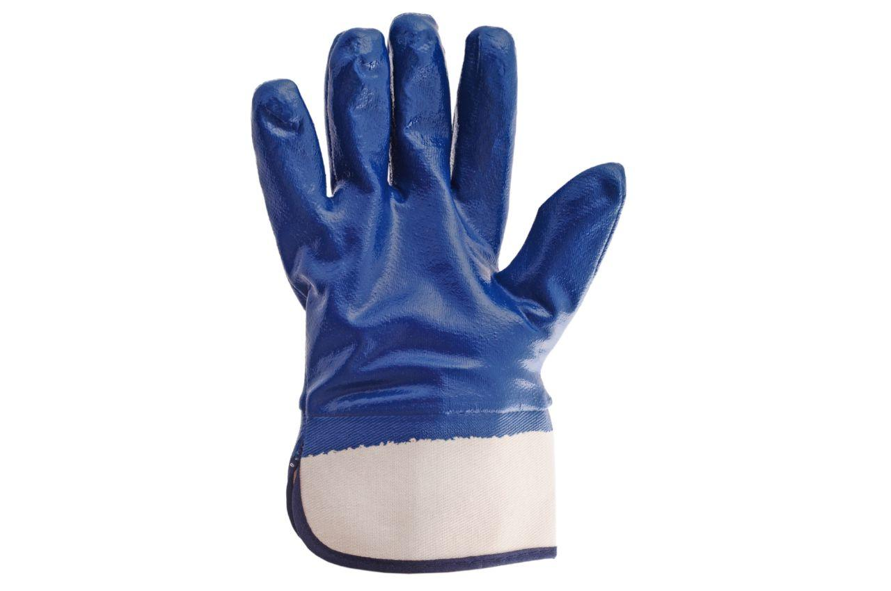 Перчатки Intertool - масло-бензостойкие с твердым манжетом 10,5