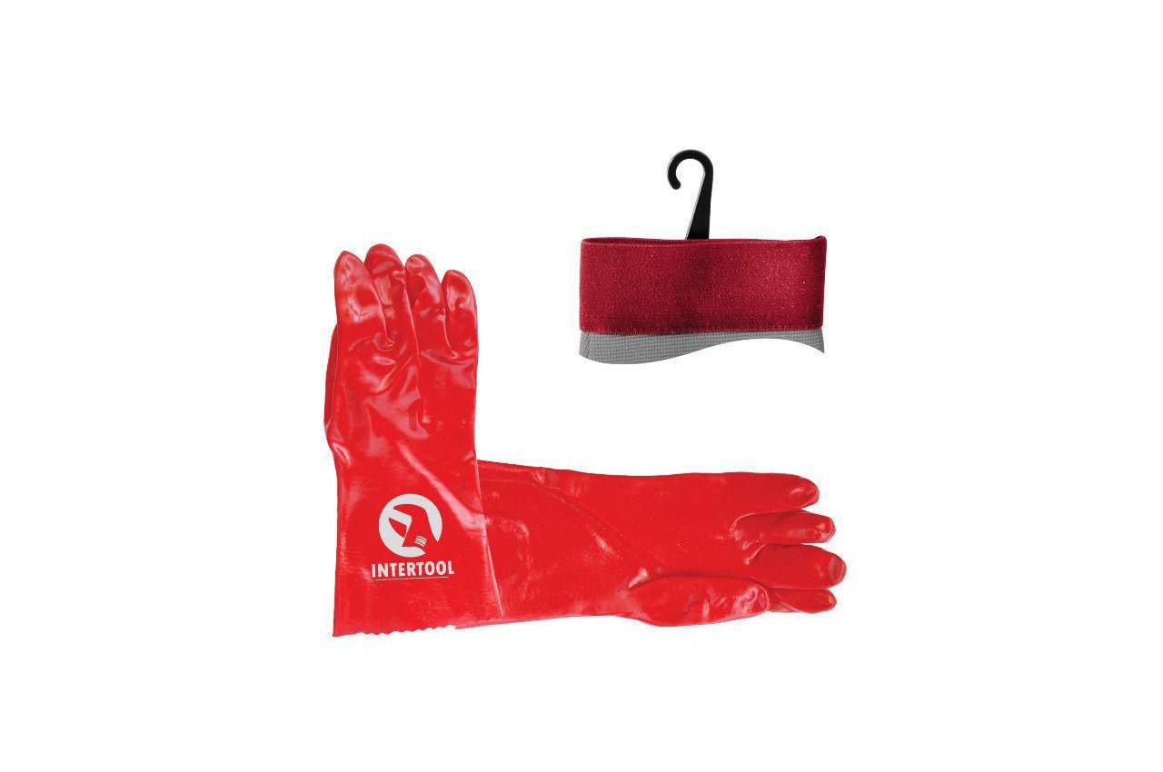 """Перчатки Intertool - масло-бензостойкие 35 см х 14"""" 3 шт."""