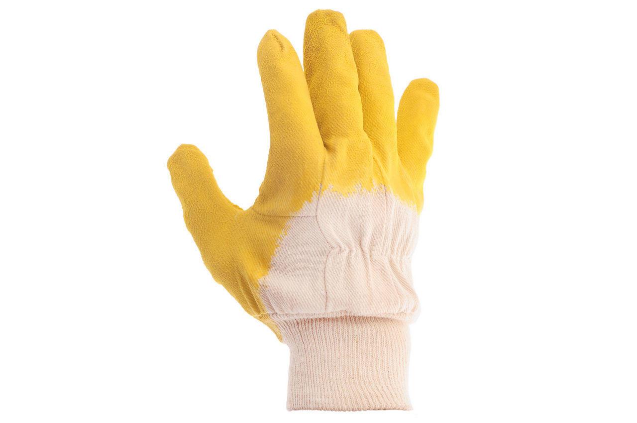 """Перчатки Intertool - стекольщика (желтая) 10,5"""" 6 шт."""