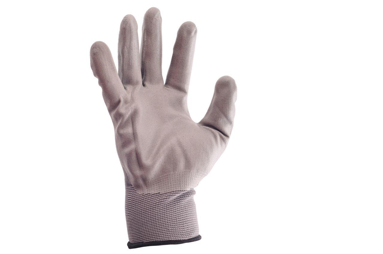 """Перчатки Intertool - с латексным покрытием 10"""" (серая) 3 шт."""