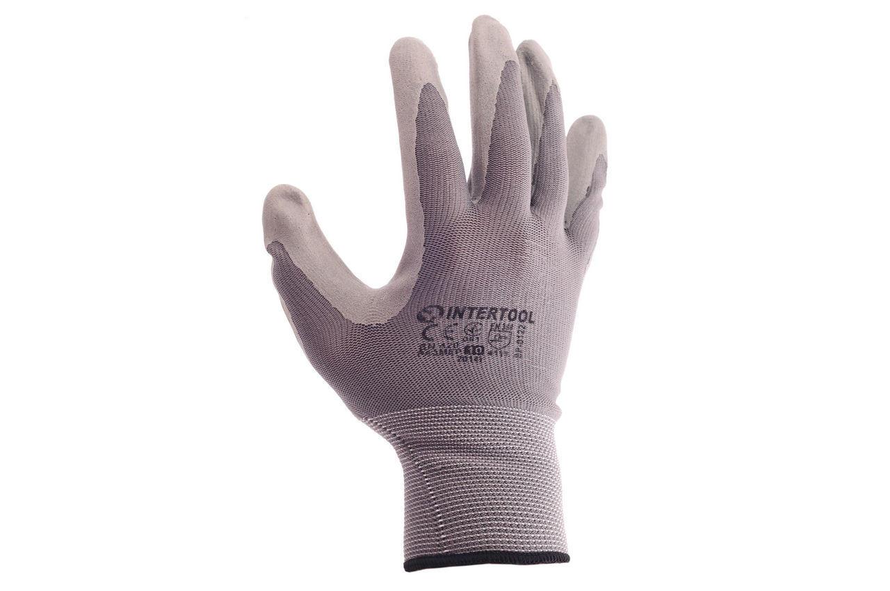 Перчатки Intertool - с латексным покрытием 10