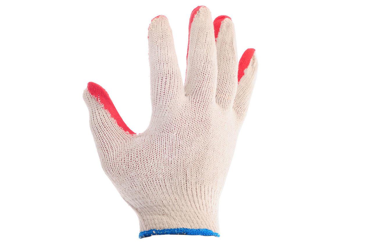 """Перчатки Intertool - с латексным покрытием 8"""" (бело-красная) 12 шт."""