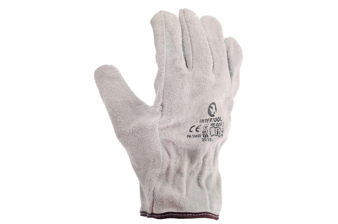 Перчатки Intertool - замшевые 27 см х 10,5