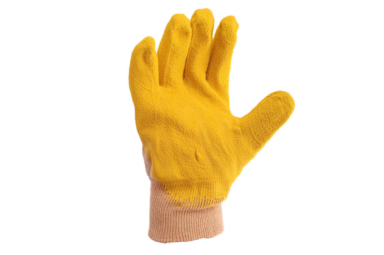 "Перчатки Mastertool - стекольщика (желтая) 10,5"" 6 шт."