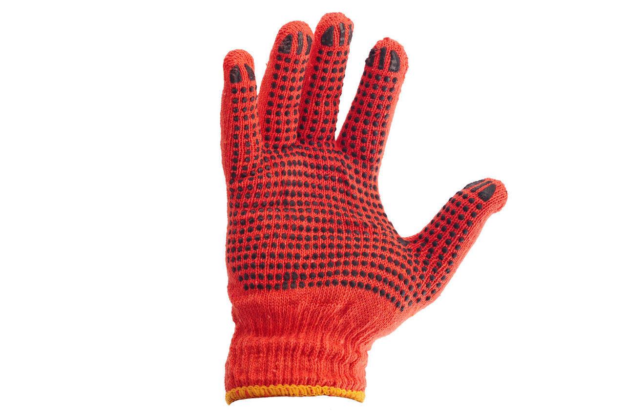 """Перчатки PRC - оранжевая с точкой 10"""" 12 шт."""
