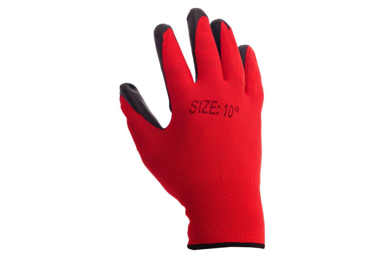 """Перчатки PRC - латексная пропитка 10"""" 12 шт."""