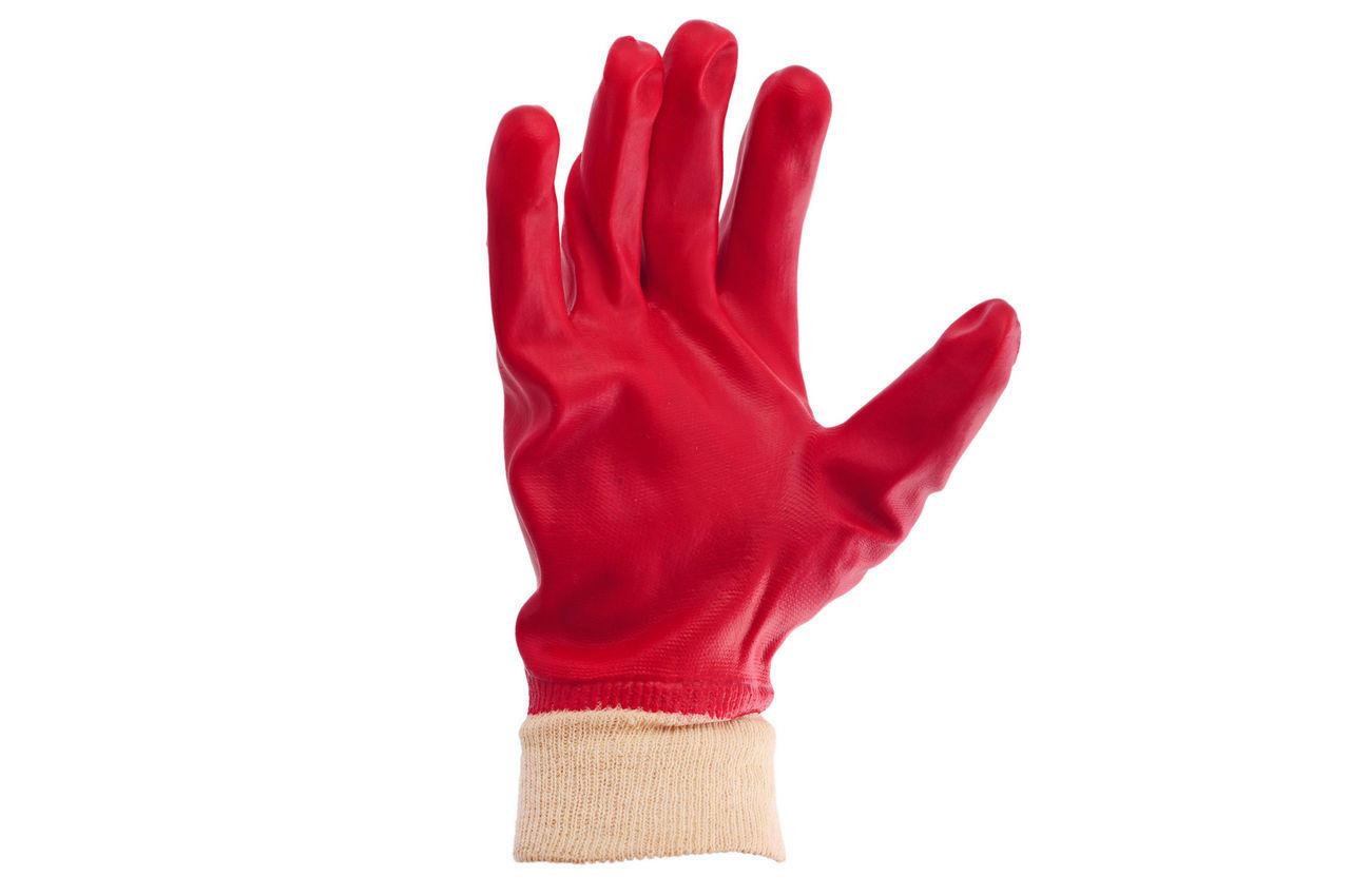 """Перчатки PRC - масло-бензостойкая 26 см х 10,5"""" (красная) 6 шт."""