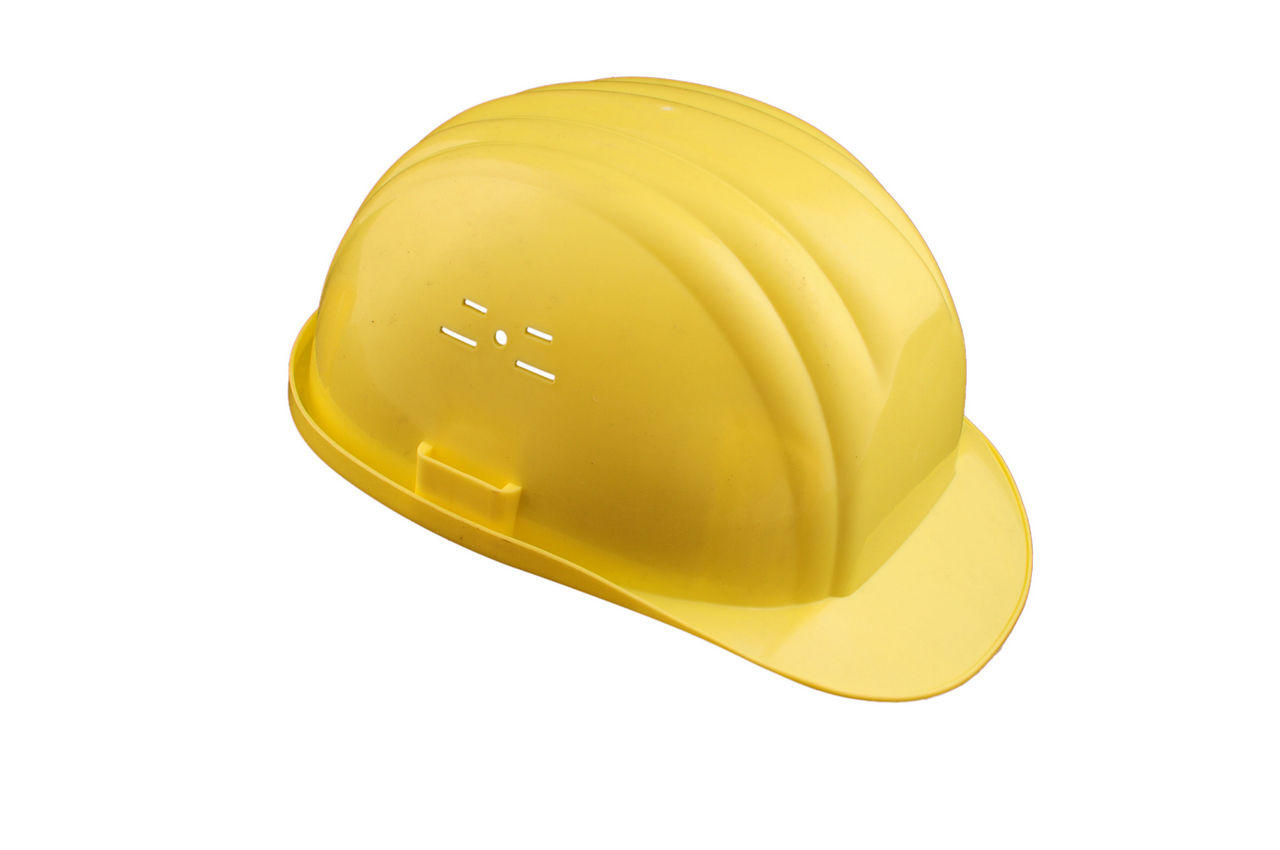 Каска строительная Vita желтая, PK-0001