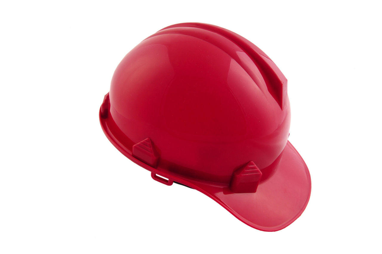 Каска строительная Intertool - красная