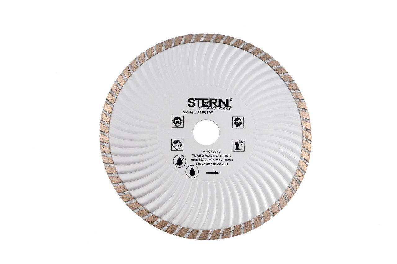 Диск алмазный Stern - 230 мм, турбоволна, AD-8400