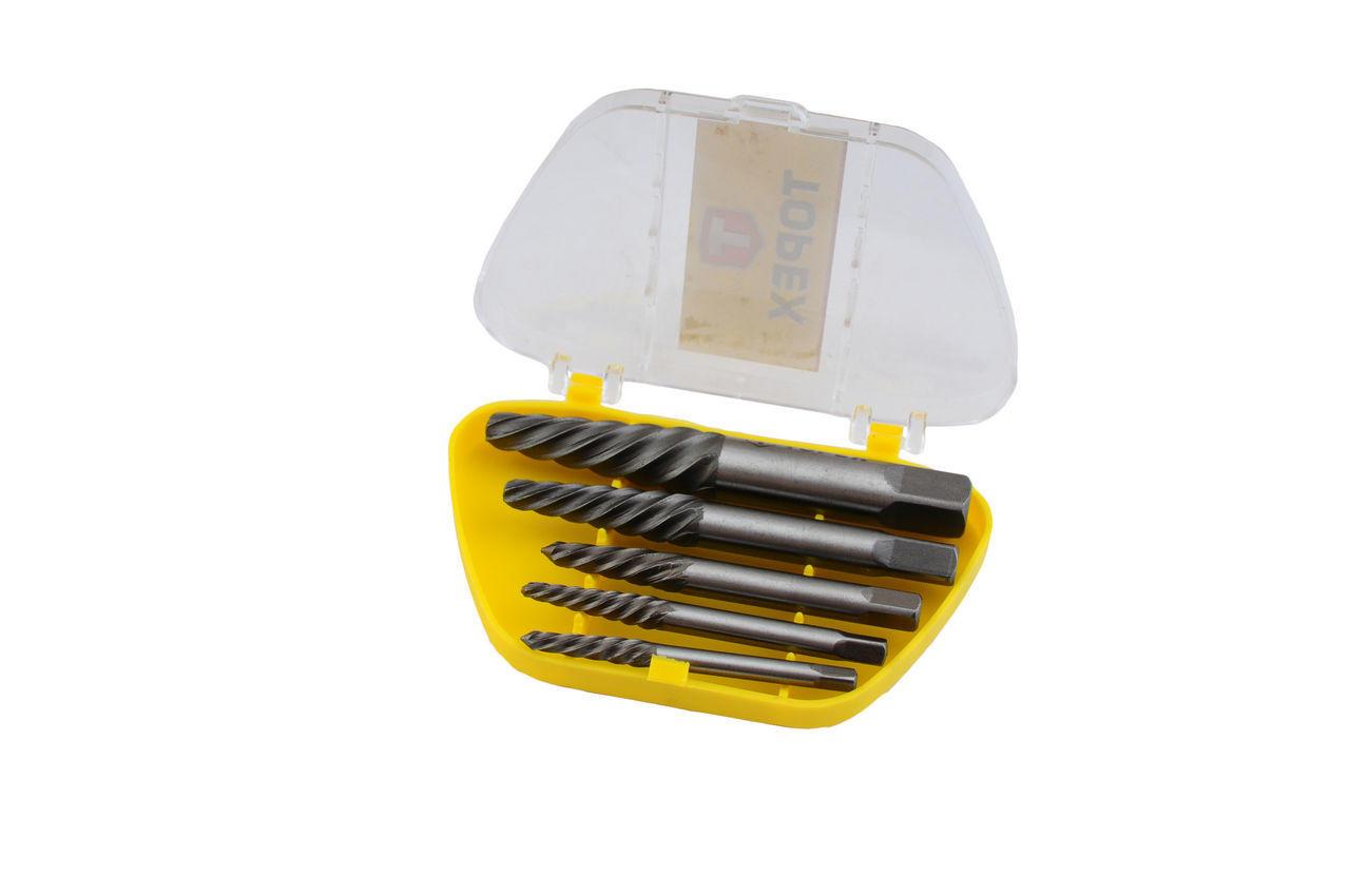 Набор экстракторов для винтов Topex - 5 шт. (3,3-19 мм), 14A110