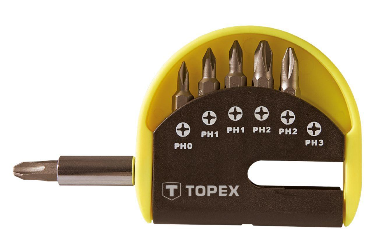 Набор бит с удлинителем Topex - 7 шт. (PH), 39D350