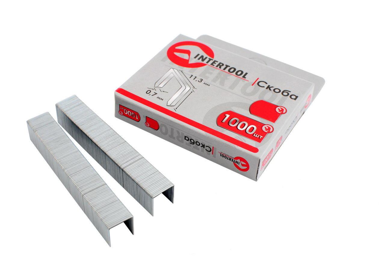 Скоба Intertool - 6 х 0,7 мм (1000 шт.) некаленая, RT-0106