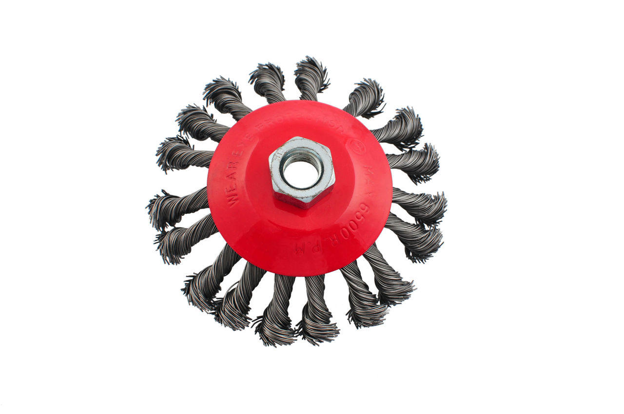 Щетка конусная Intertool - 125 мм, плетеная