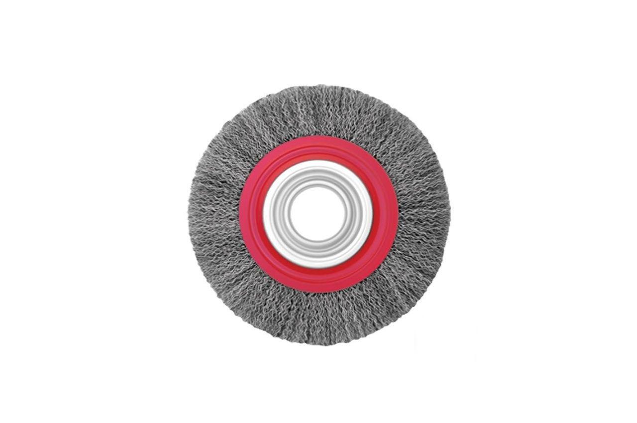 Щетка дисковая Intertool - 200 мм, рифленая