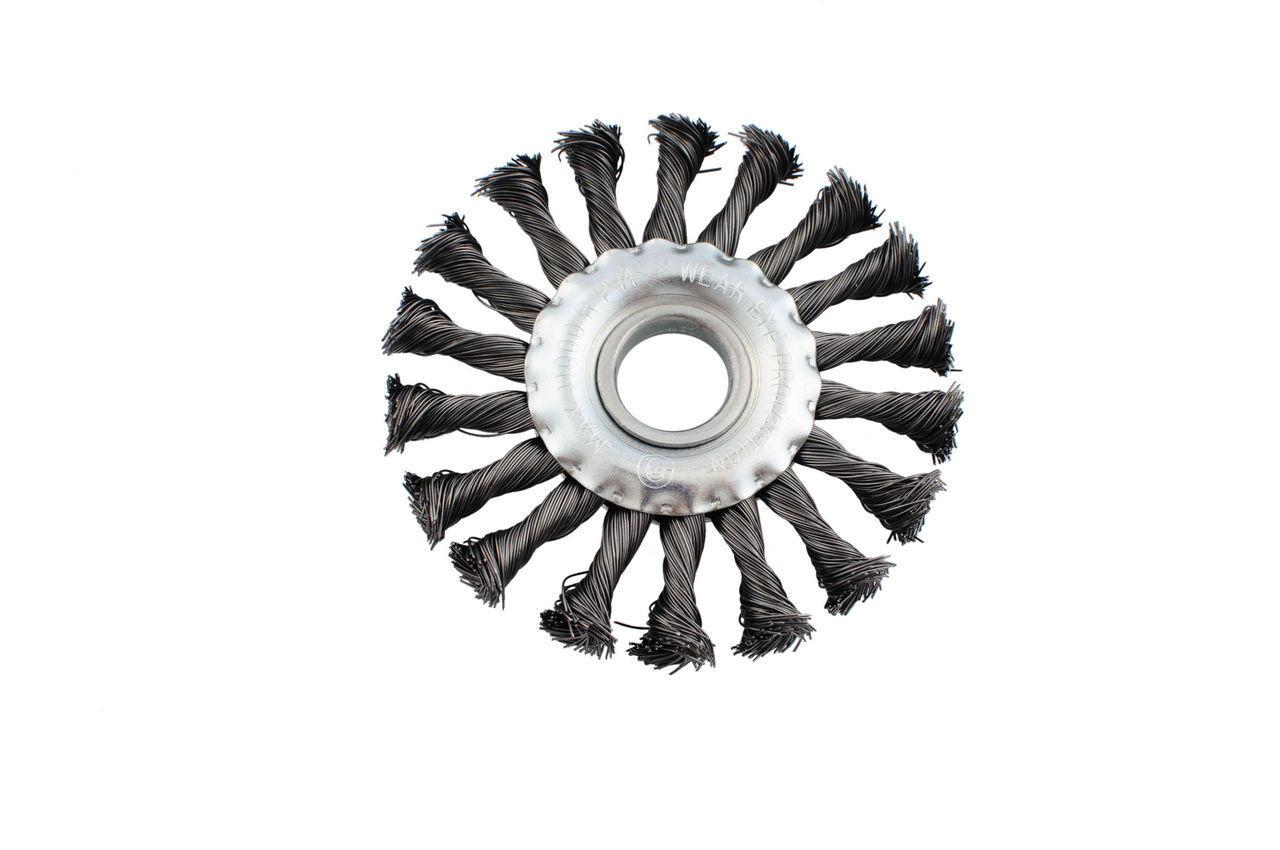 Щетка дисковая Intertool - 200 мм, плетеная