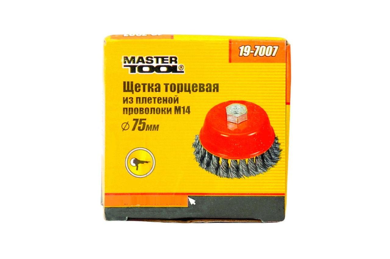 Щетка торцевая Mastertool - 75 мм, плетеная