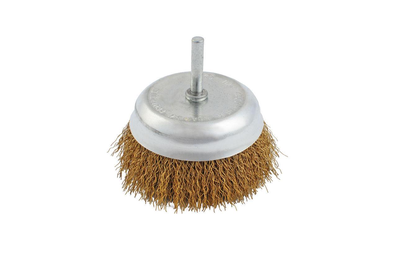 Щетка торцевая Mastertool - 100 мм, рифленая, стержень, 19-7410