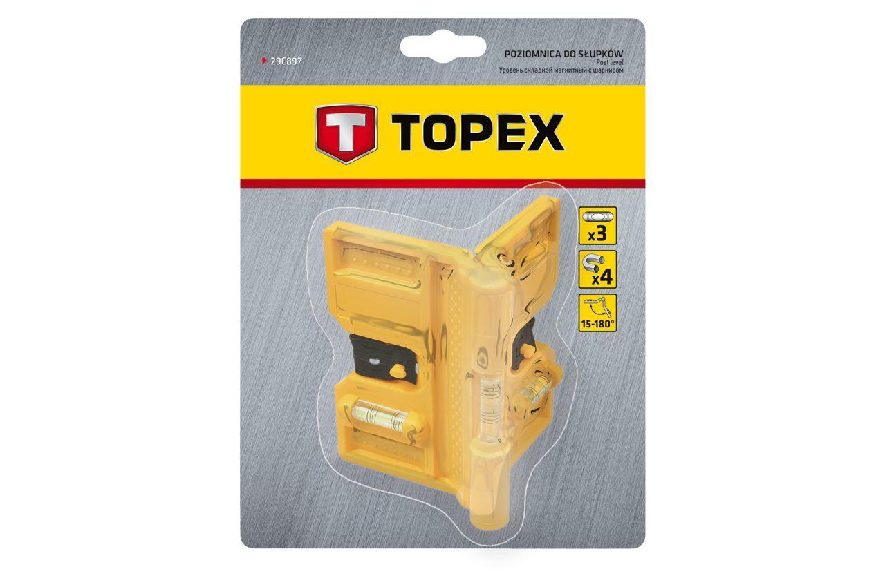 Уровень трубный Topex - 15-180° магнитный
