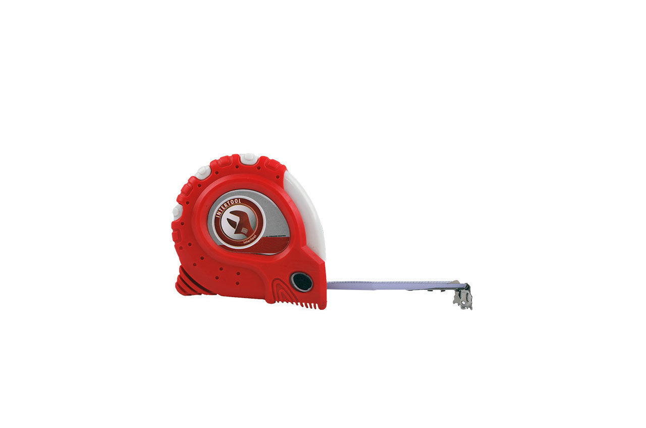 Рулетка Intertool - 8 м х 25 мм, супер-магнит