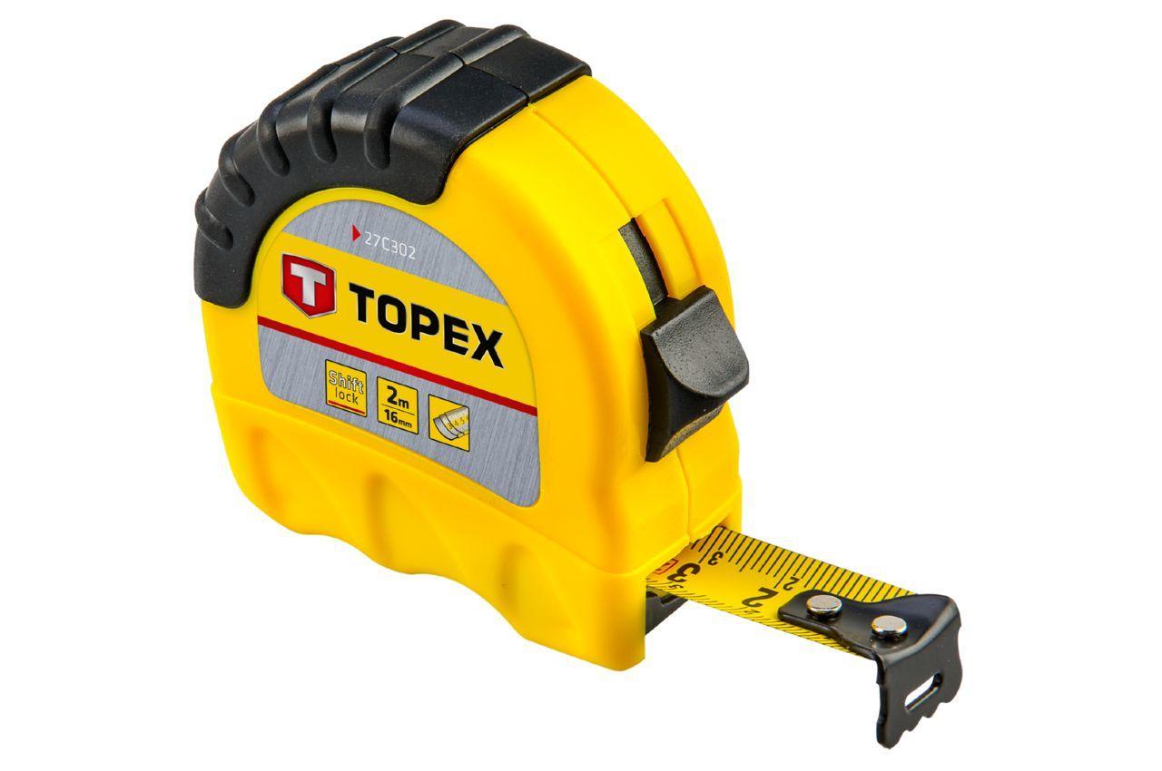 Рулетка Topex - 2 м х 16 мм, Shiftlock