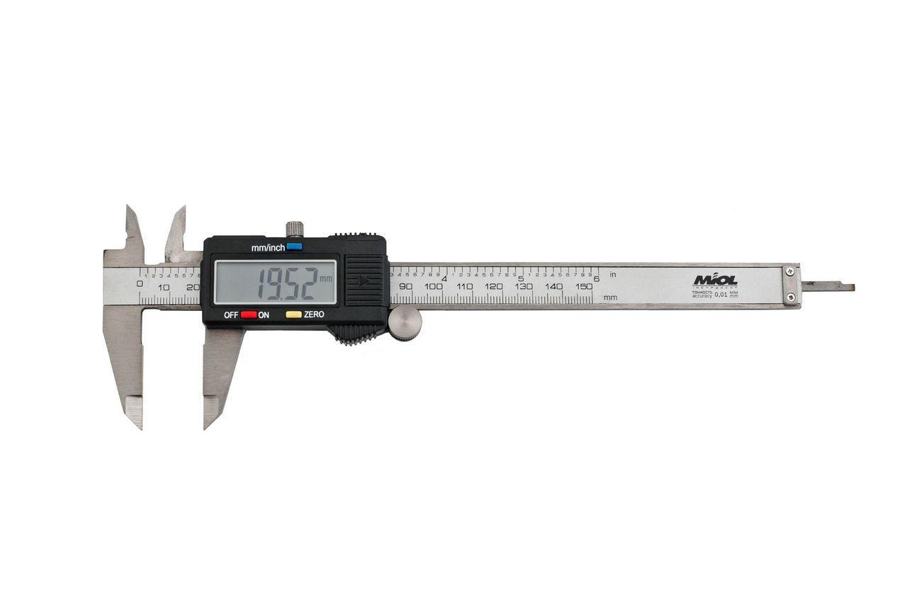 Штангенциркуль Miol - 150 мм электронный, цена деления 0,01 мм