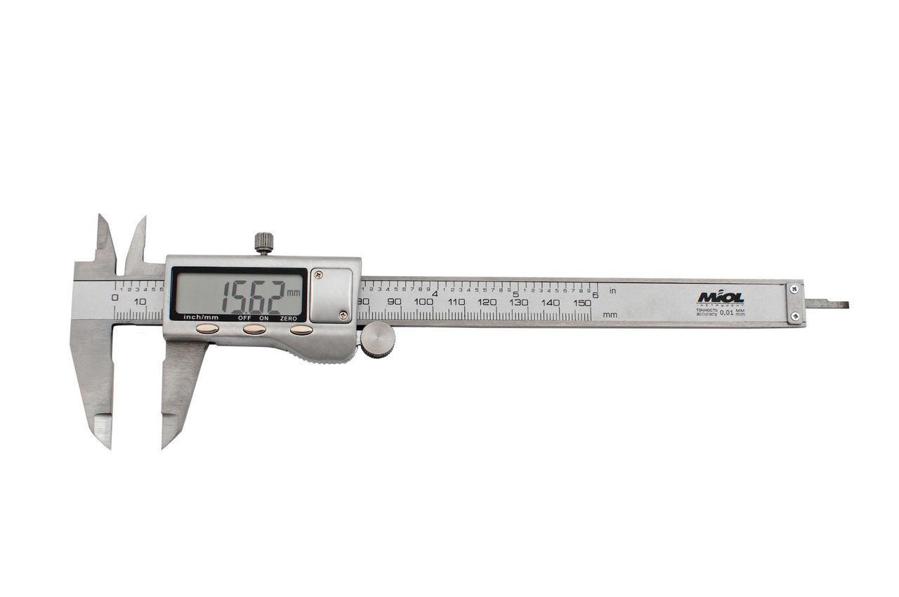 Штангенциркуль Miol - 150 мм электронный, цена деления 0,01 мм, металл