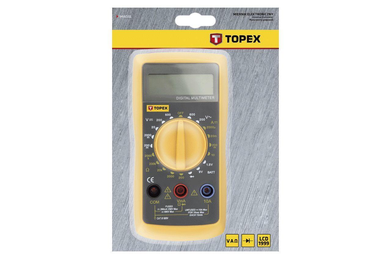 Мультиметр цифровой Topex - амперметр, омметр, вольтметр