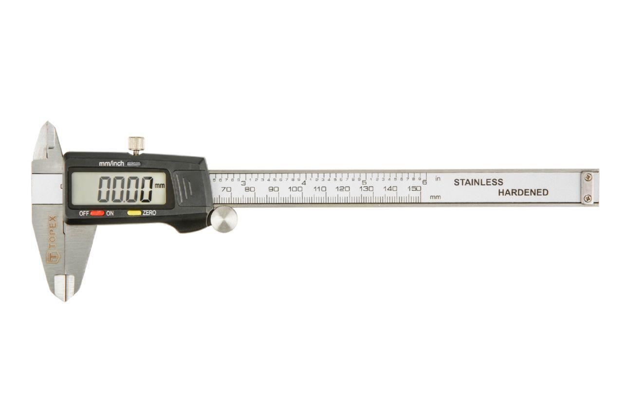 Штангенциркуль Topex - 150 мм электронный, цена деления 0,02 мм
