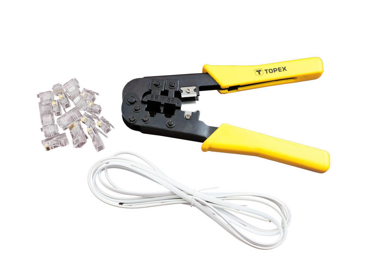 Клещи для опрессовки штекеров Topex - 185 мм RJ12 (6P), RJ45 (8P)