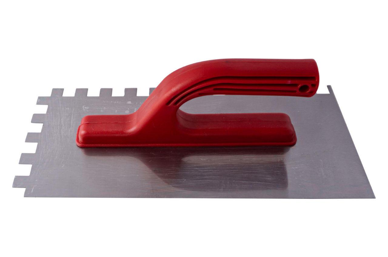 Гладилка Intertool - 280 х 130 мм, зуб 12 х 12 мм, KT-0008