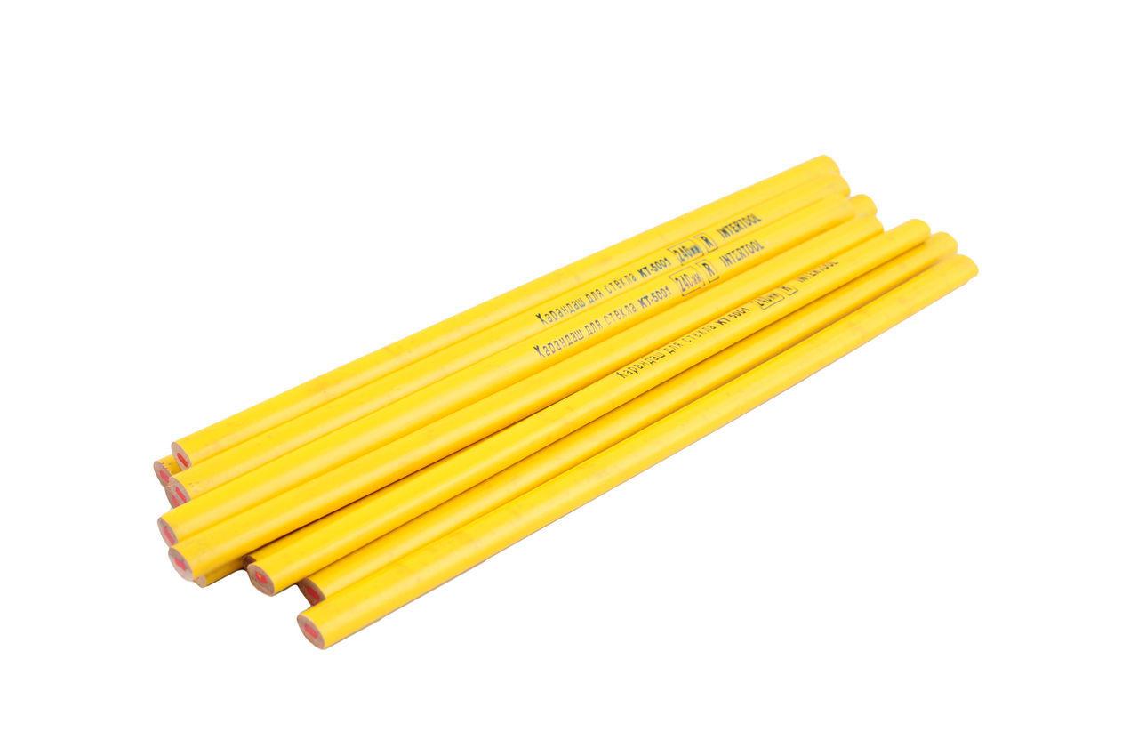 Карандаш Intertool - по стеклу 240 мм (12 шт.) желтый