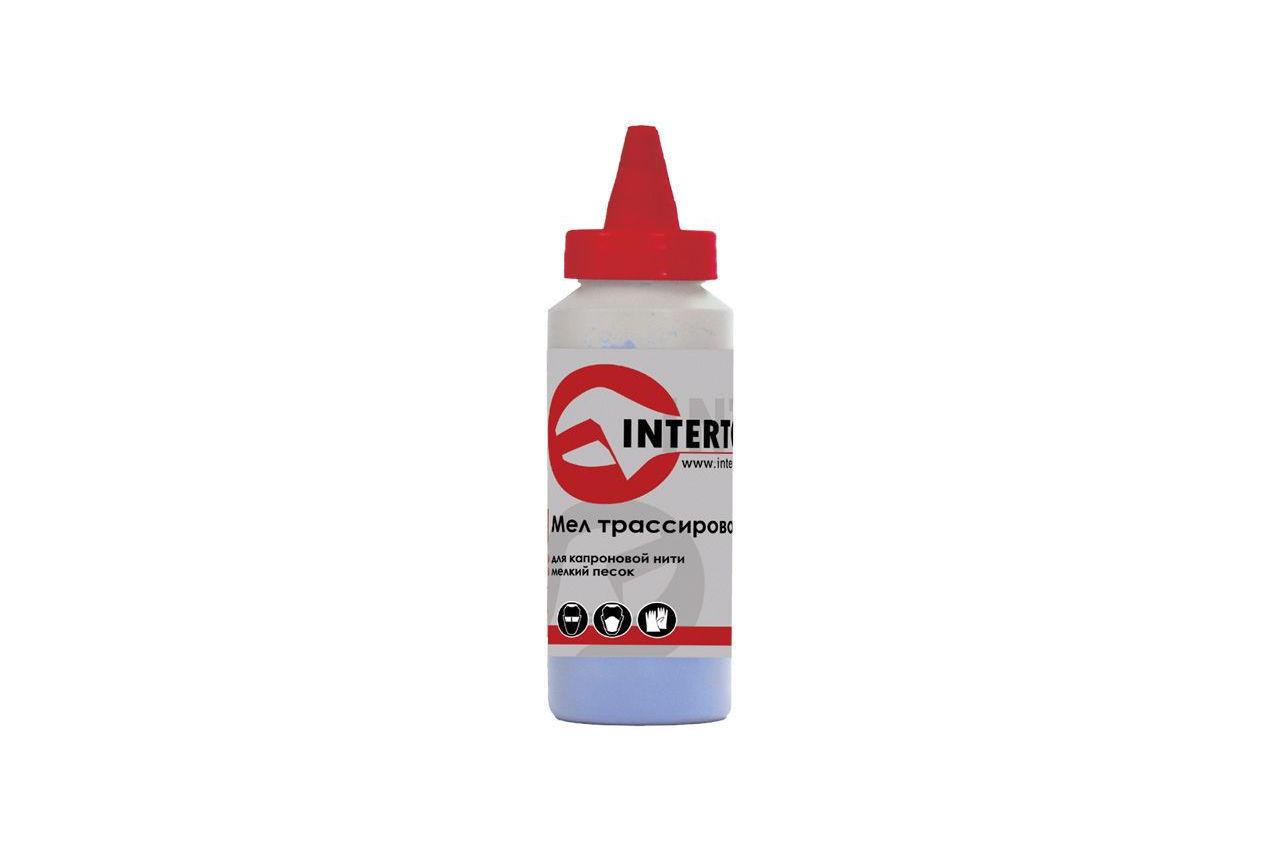 Мел трассировочный Intertool - 115 г синий