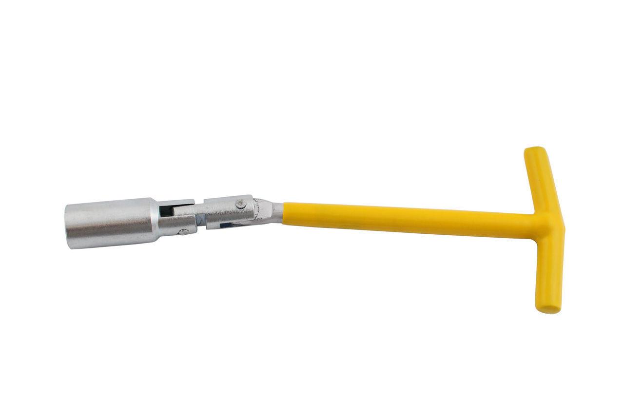 Ключ свечной Т-образный с шарниром Intertool - 16 х 250 мм, HT-1717