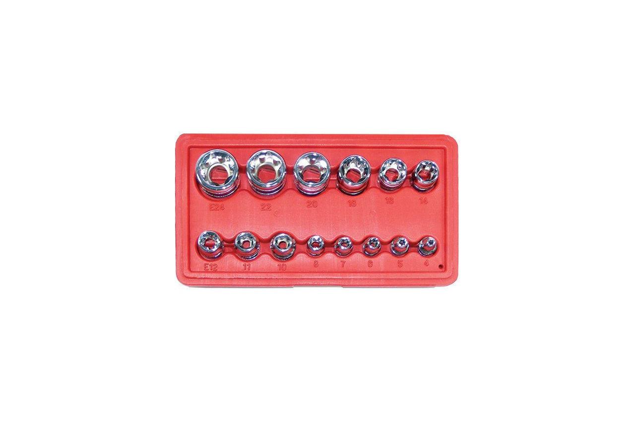 Набор головок Torx Intertool - 14 шт. (E4-E24)