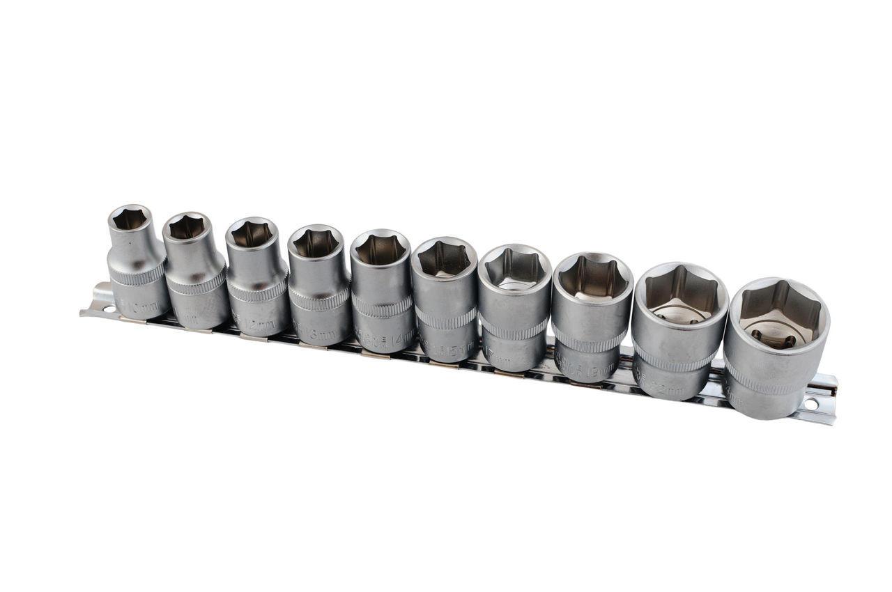 """Набор головок шестигранных 1/2"""" Miol - 10 шт. (10-24 мм), 58-410"""