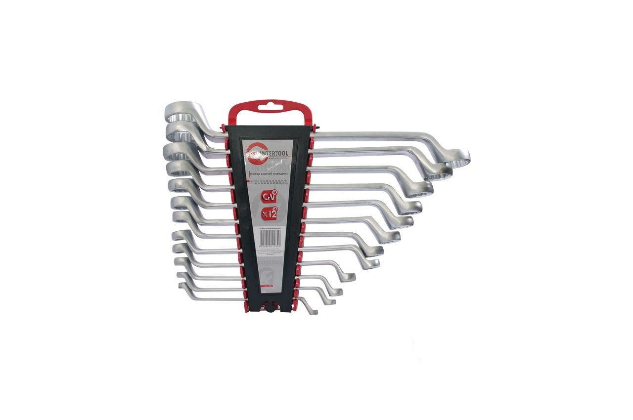 Набор накидных ключей Intertool - 12 шт. (6-32 мм), HT-1103