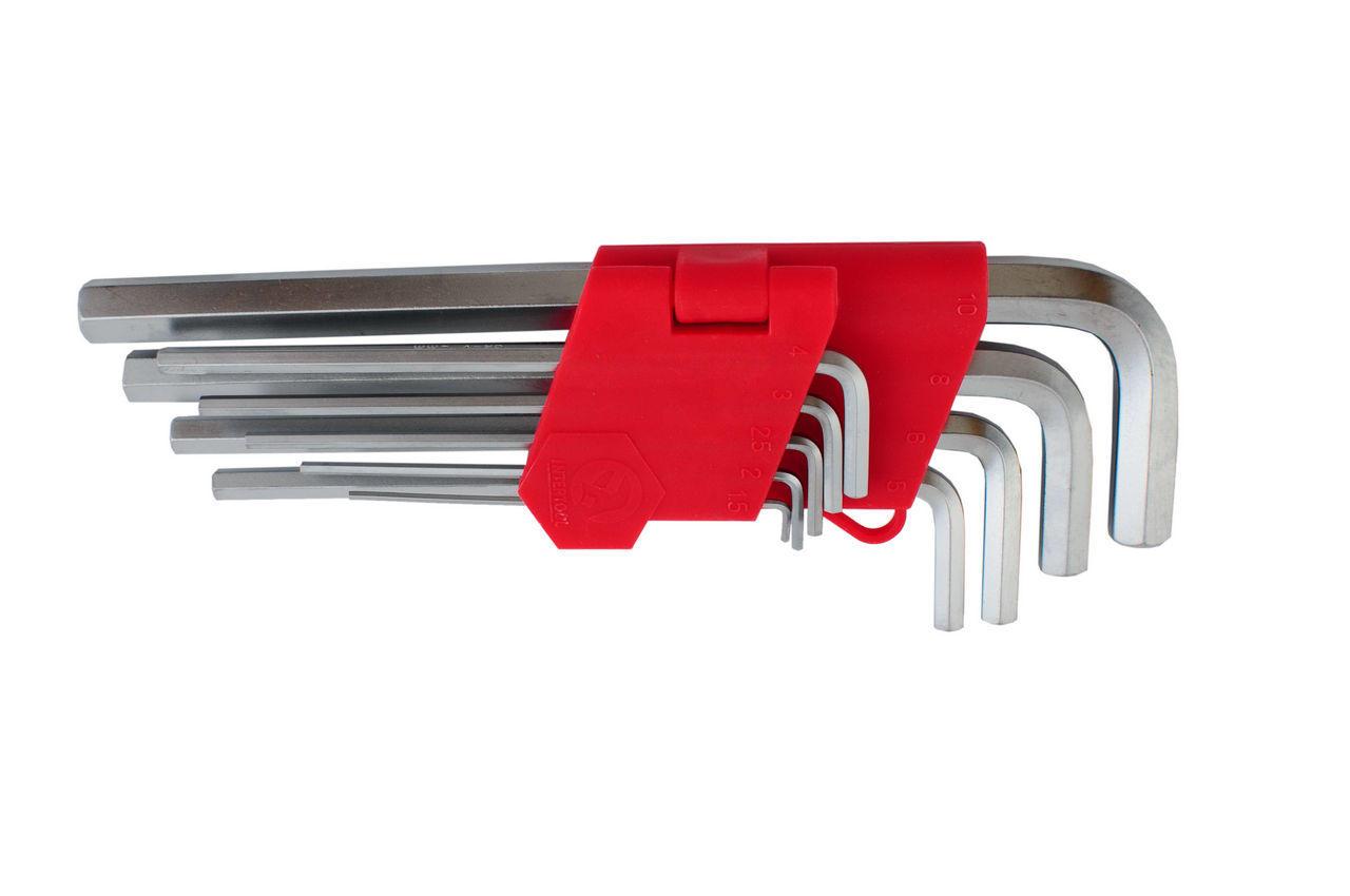 Набор шестигранных ключей Intertool - 9 шт., удлиненные, HT-0602