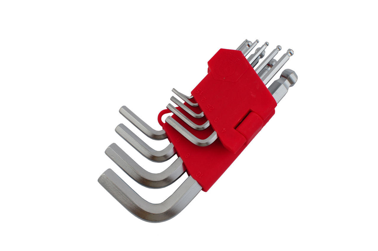 Набор шестигранных ключей Intertool - 9 шт., с шаром
