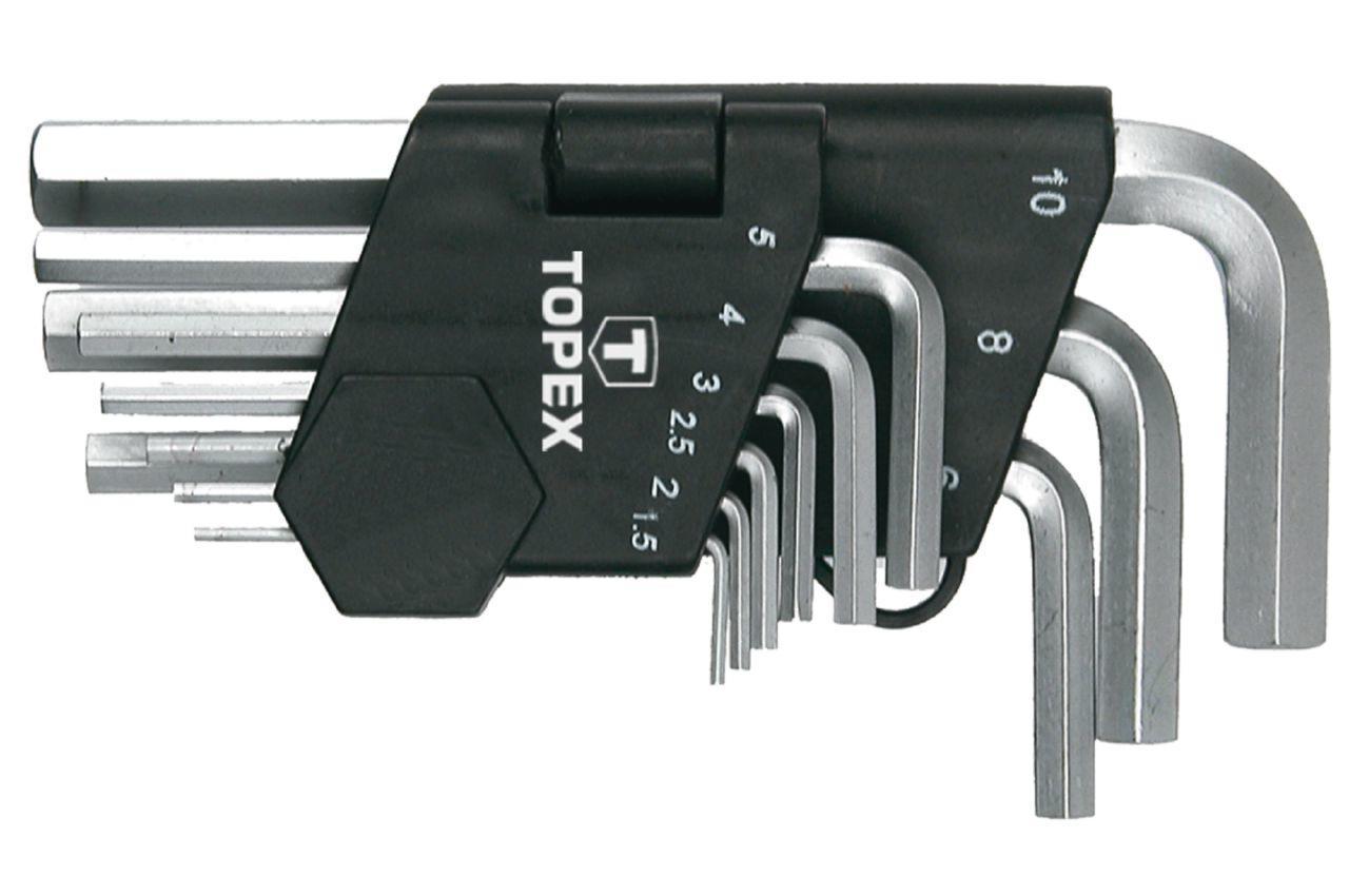 Набор шестигранных ключей Topex - 9 шт.