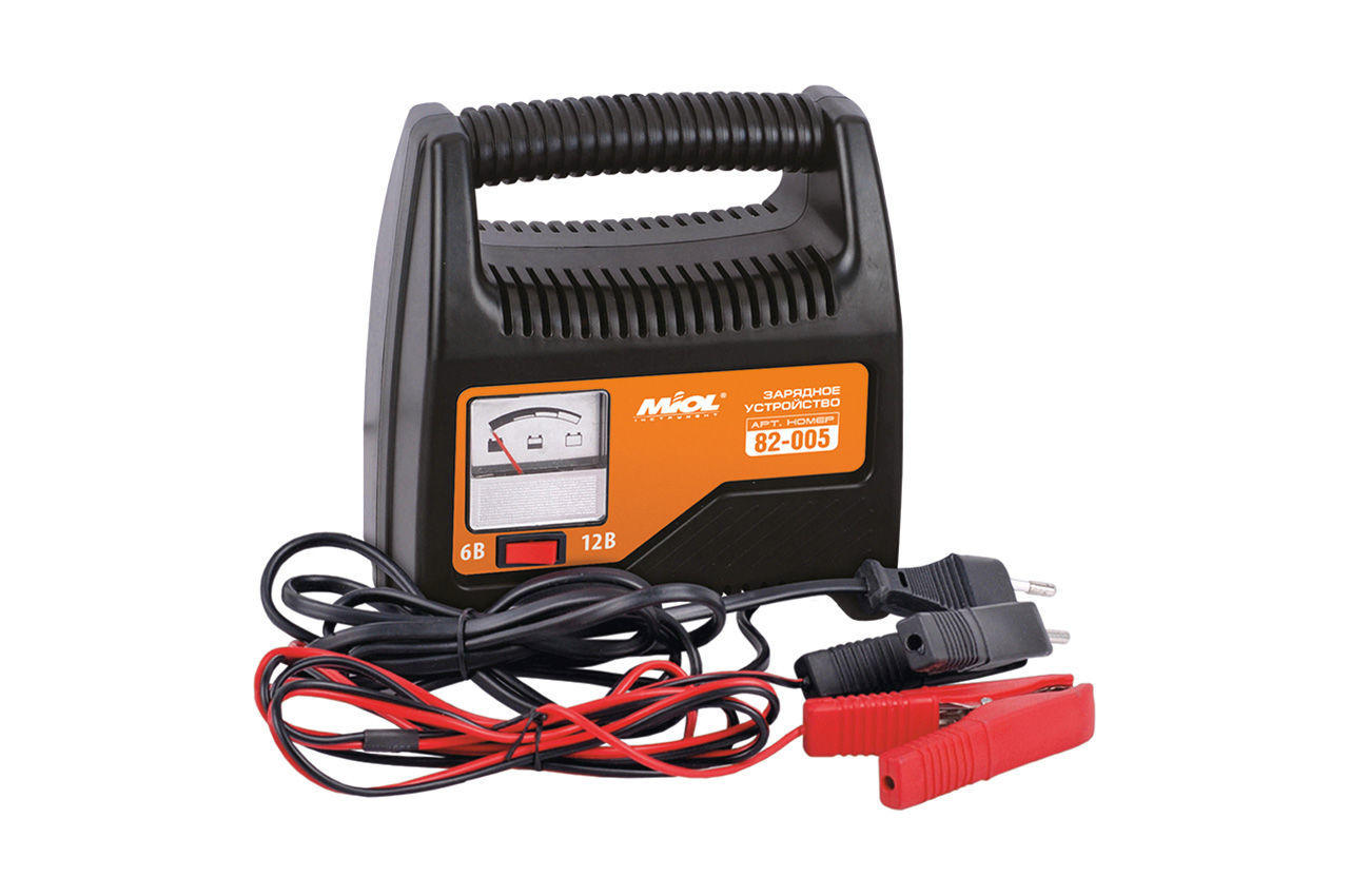 Зарядное устройство Miol - 6 - 12 В, 6 А со стрелочной индикацией, 82-005