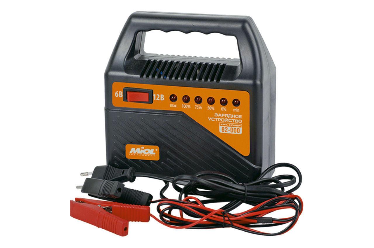 Зарядное устройство Miol - 6 - 12 В, 6 А со светодиодной индикацией, 82-000