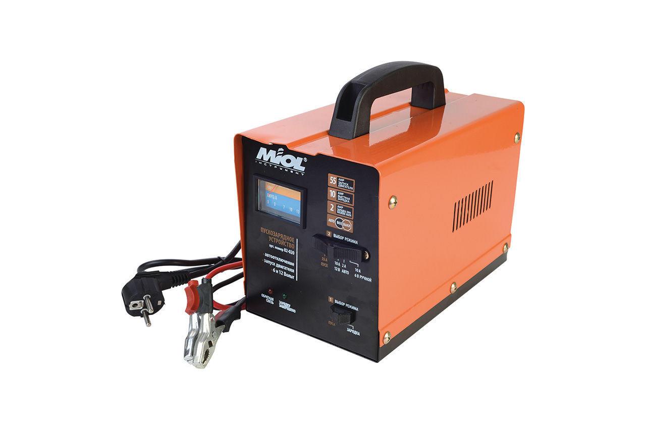 Пускозарядное устройство Miol - 6 - 12 В, 100 А-ч, 140 Вт, 82-020