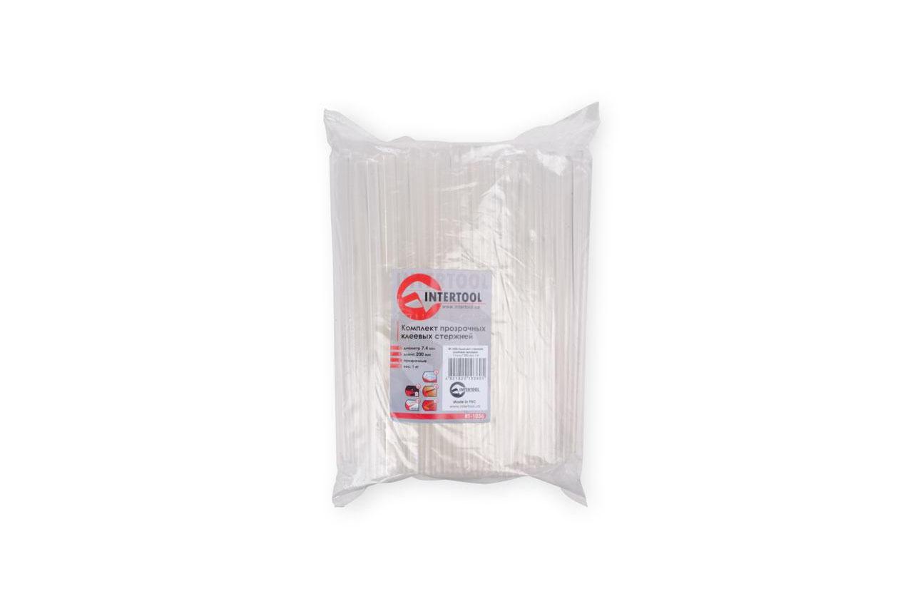 Клеевые стержни Intertool - 7,4 x 200 мм прозрачные (1 кг)