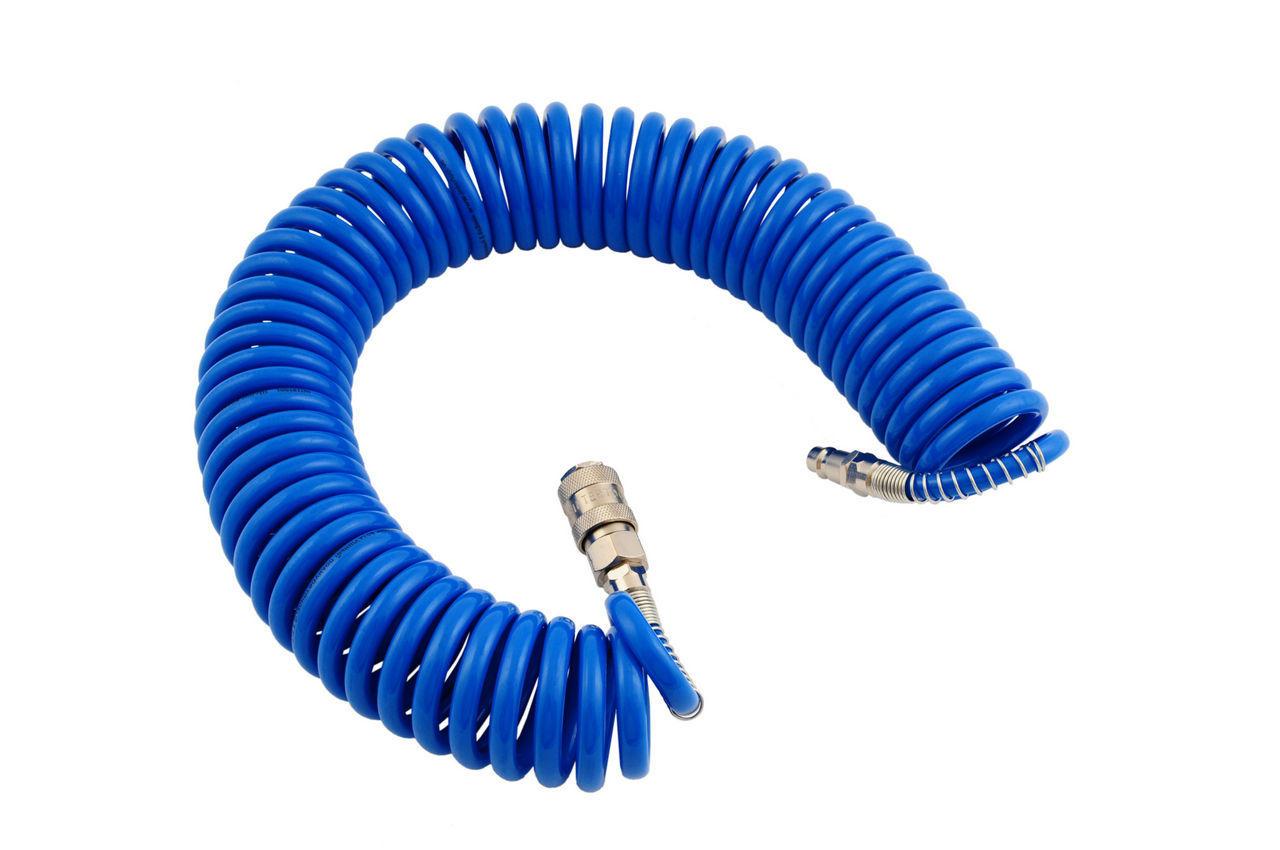 Шланг спиральный Intertool - 15 м, 5,5 х 8 мм, полиуретановый