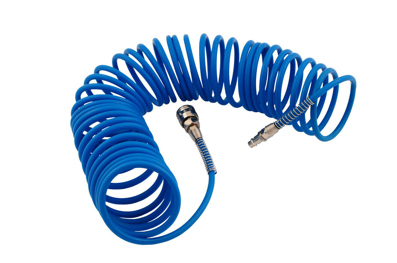 Шланг спиральный Mastertool - 10 м, 5 х 8 мм, полиуретановый, 81-8491