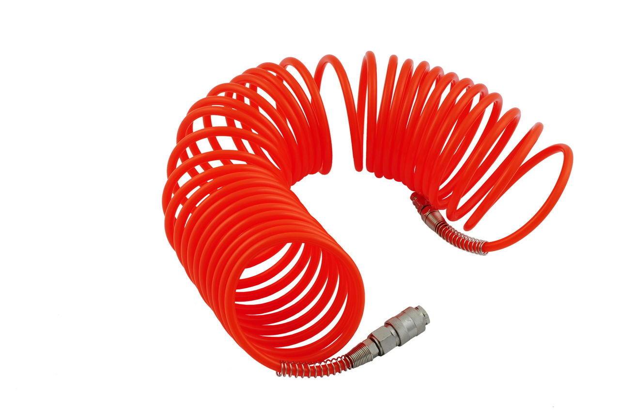 Шланг спиральный Mastertool - 10 м, пластиковый