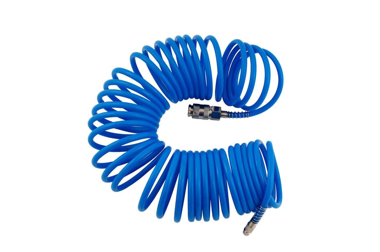 Шланг спиральный Miol - 10 м, 5 х 8 мм, полиуретановый