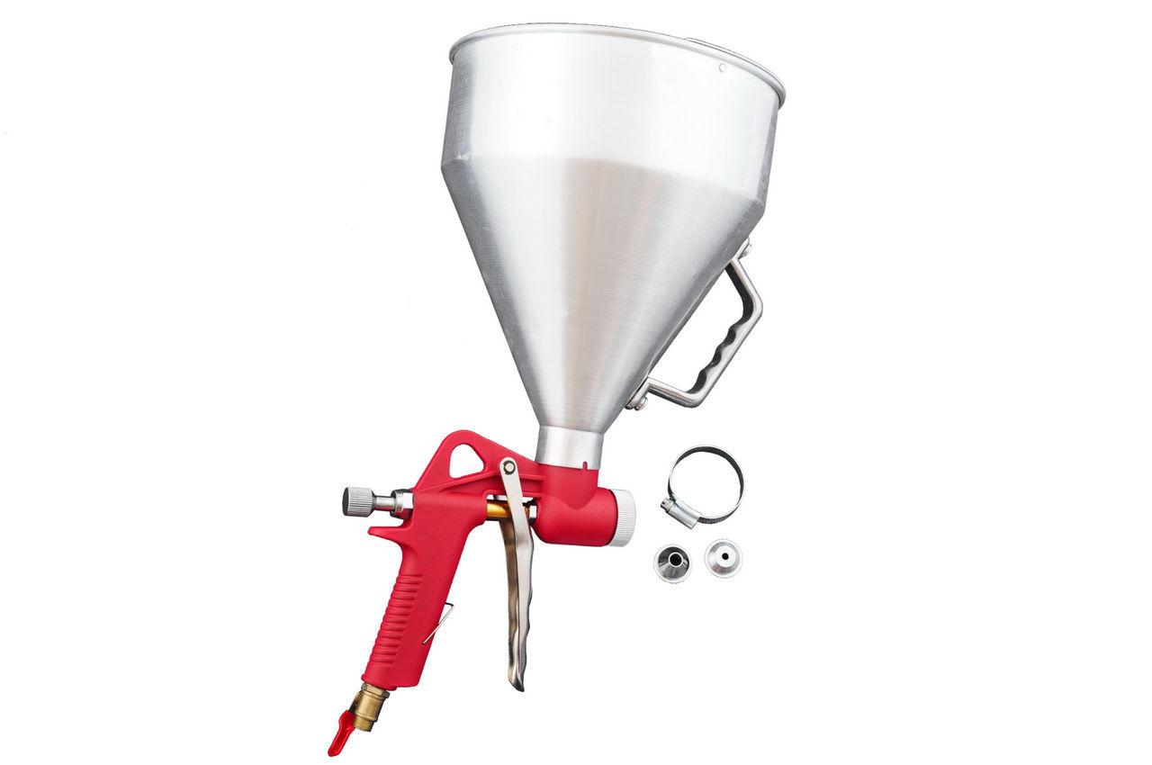 Пневмопистолет для нанесения цемента Housetools - металл бак 6 л, d=4, 6, 8 мм, 80K401