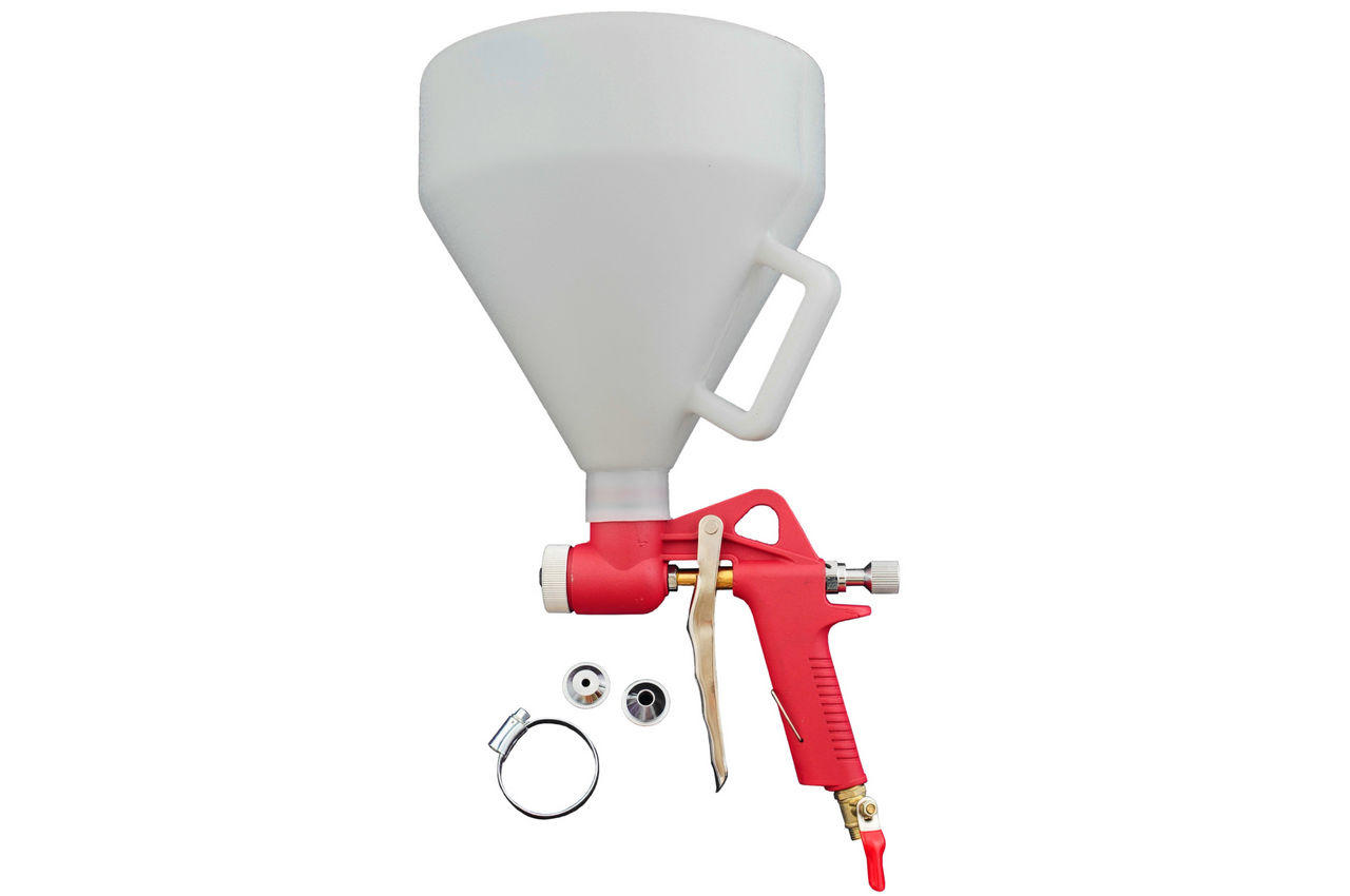 Пневмопистолет для нанесения цемента Housetools - пластик бак 7 л, d=4, 6, 8 мм, 80K402
